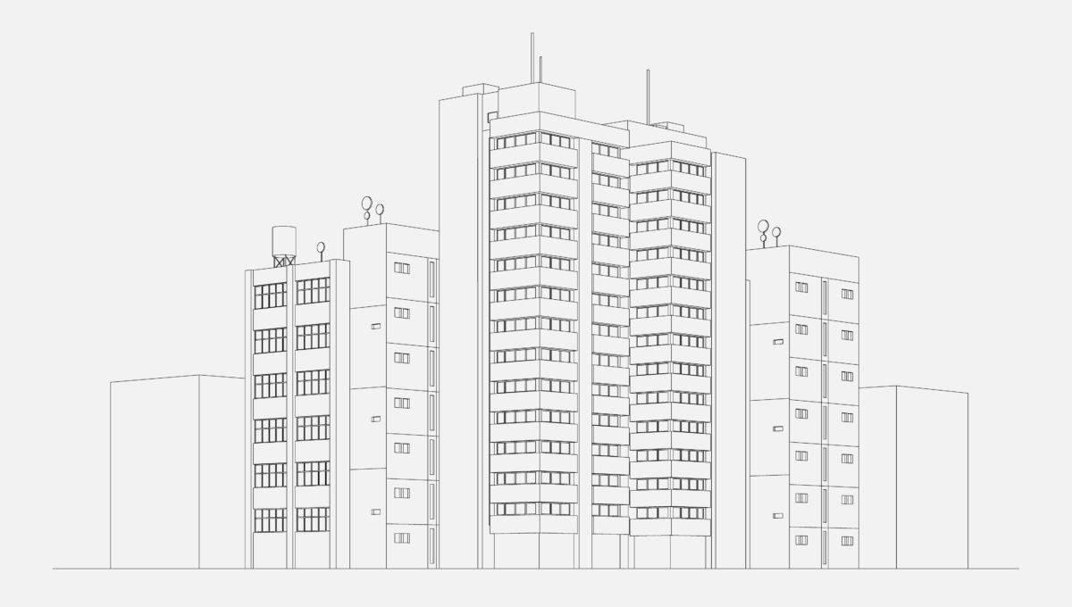 City architecture illustration